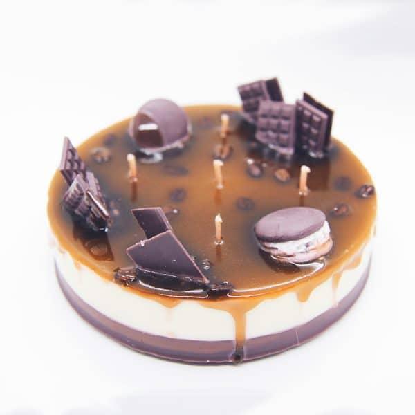 נר עוגת אספרסו בניחוח קפה וקינמון